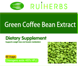 Hotsale 100 Pure Nature Green Coffee Bean Extract 500mg x 90Caps for weight loss