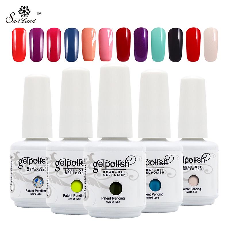 Saviland 1pcs UV Gel Nail Polish 15ml Gelpolish Nail Art Fashion Glitter Colors Optional Varnish LED UV Gel Polish(China (Mainland))