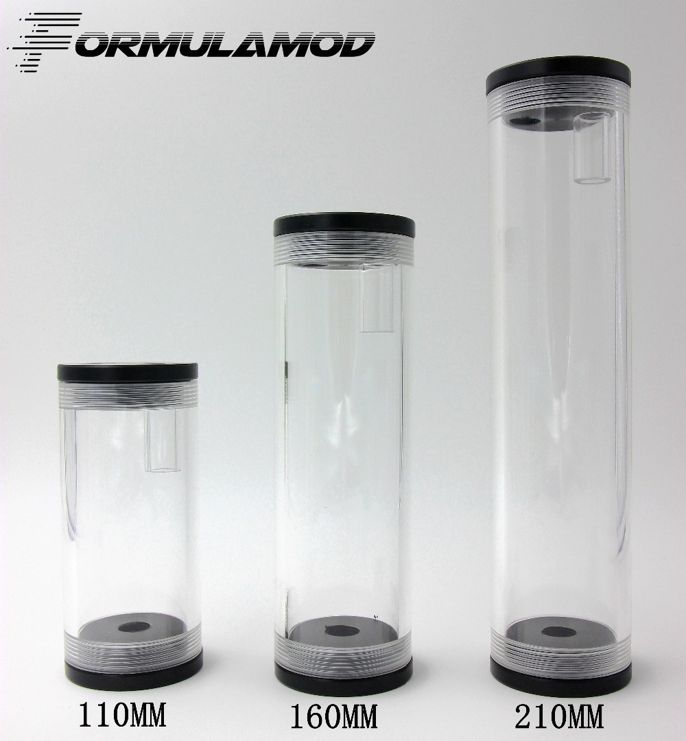 FormulaMod 110 160 210 MM 50MMdiameter cylindrical water-cooled tank accessories complete PMMA water tank water cooling computer()