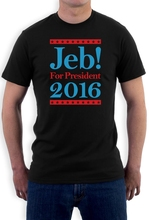 Tee Shirt Short Sleeve Tops Jeb Bush 2016 Presidential Campaign - Republicans T Shirt Vote For President(China (Mainland))