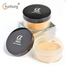 LOVE ALPHA 9 Colors Loose Face Powder Brand Makeup Base Long Lasting Control Oil Control Concealer Contour Palette White Powder(China (Mainland))