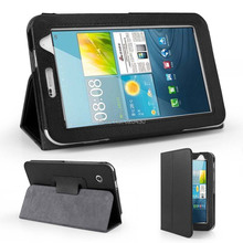 pcs/lot Folio PU Leather Case Cover Stand For Samsung Galaxy Tab 2 7.0  smart case  WiFi 3G gt-P3100 gt-P3110 book case