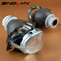 Car Styling Q5 HID Square Bi xenon Lens Projector Headlight Full Metal Headlamp Xenon Lenses Use