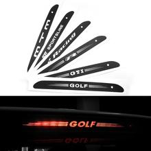 Arrière en Fiber de carbone pare – brise créative d'éclairage de frein autocollant de voiture adapté pour Volkswagen Golf 6 7 GTI livraison gratuite