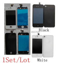 100% Top Quality for iPhone 4 4G LCD Touch Conversion Kits Black&White Digitizer by AM DHL EMS(1Set)(China (Mainland))