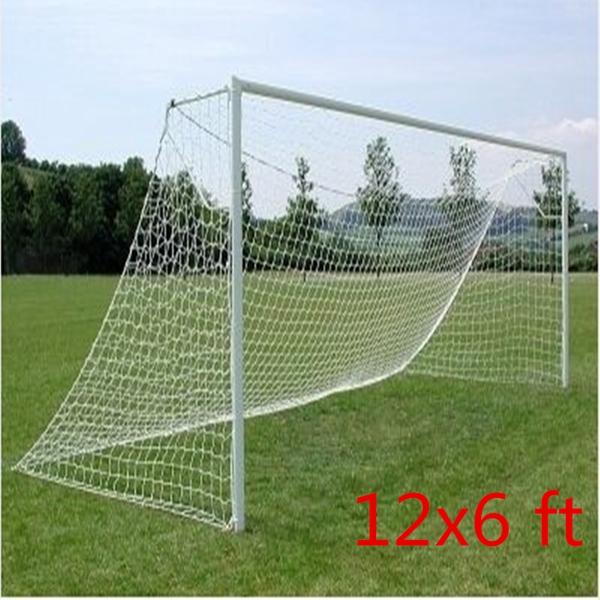 12x6ft Full Size Football Soccer Goal Post Net Sports Match Training Junior New Polypropylene Fiber(China (Mainland))