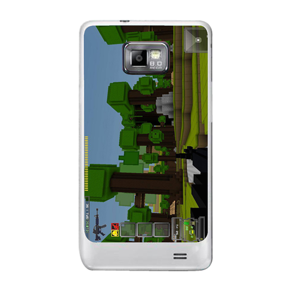 Free shipping Custom print 3D My world Minecraf Mr block Cover case for Samsung galaxy s2 hard plastic mobile phone case-LX272(China (Mainland))