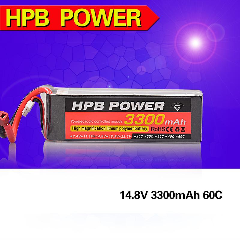 Фотография HPB Lipo 14.8v 60C  3300Mah  Lipo Battery For RC Quadcopter Car Free Shipping
