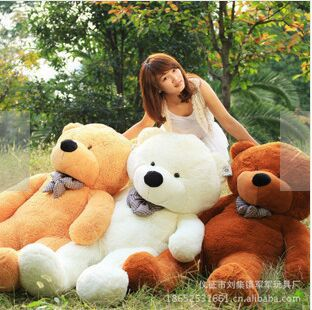 [100cm 3 Colors] Giant Large Size Teddy Bear Plush Toys Stuffed Toy Lowest Price Birthday gifts Christmas(China (Mainland))
