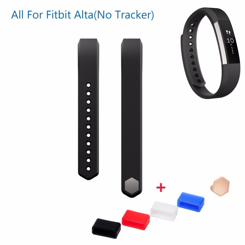 New Fitbit Alta Silicone Rubber Band Wristband Bracelet Replacement Accessories,Large & Small with Free Fasteners Silicone Strap