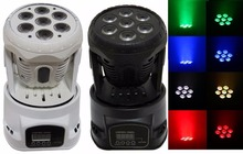 Buy 4xLot Free Shipping LED Moving Head light 7x10W RGBW 4 in1 LED Stage Lights DJ Lighting Equipment 100~240V Sound Control Auto for $500.00 in AliExpress store