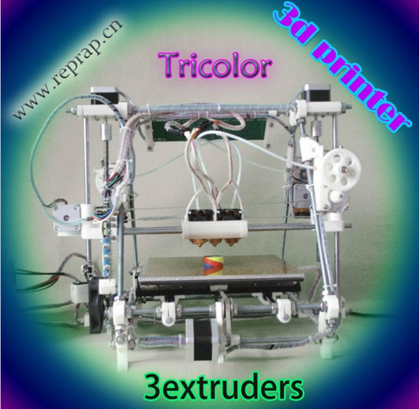 He3D tricolor 3D printer Triple extruder kit reprap