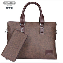 Brand composite bag business man bag briefcase cross-section shoulder bag handbags computer  Laptop  bag freeshipping(China (Mainland))