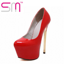 Sexy Stiletto Pumps 2016 Beautiful Spring Party Shoes Woman New Arrival High Heels Thick Platform Shoes Pumps Size 34-39(China (Mainland))