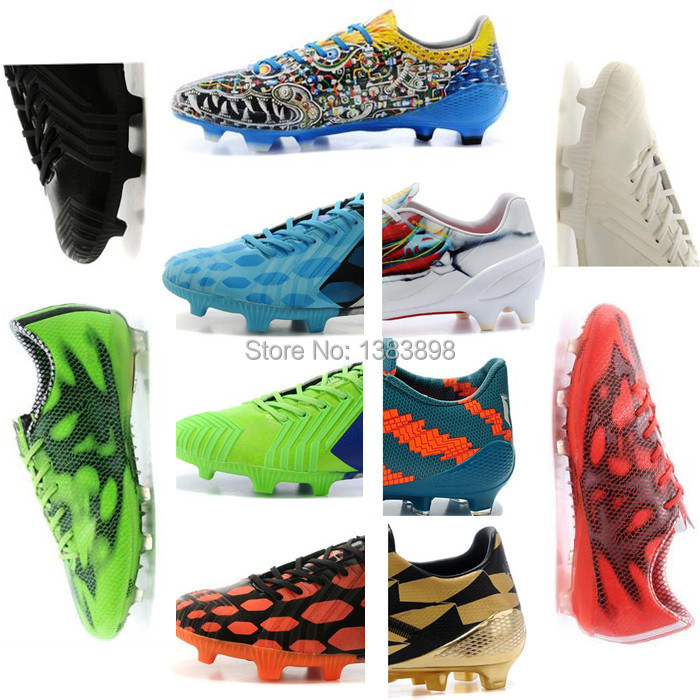 Factory price best Quality FG SG Soccer Shoes Football Boots men shoes Soccer Boots Cheap Outdoor Soccer Shoes size36-45 F50(China (Mainland))