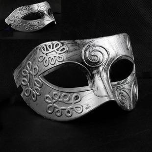 Vintage Carnival Mask/ Antique Roman Gladiator Mask For Men/ Xmas Mask Venetian, Gold & Silver Color