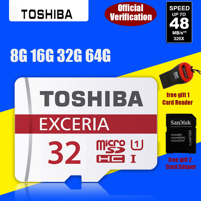 100% Genuine Toshiba micro SD SDHC Class 10 Class 4 Memory Card 64gb 32gb 16gb 8gb Real Capacity Support Official Verification(China (Mainland))