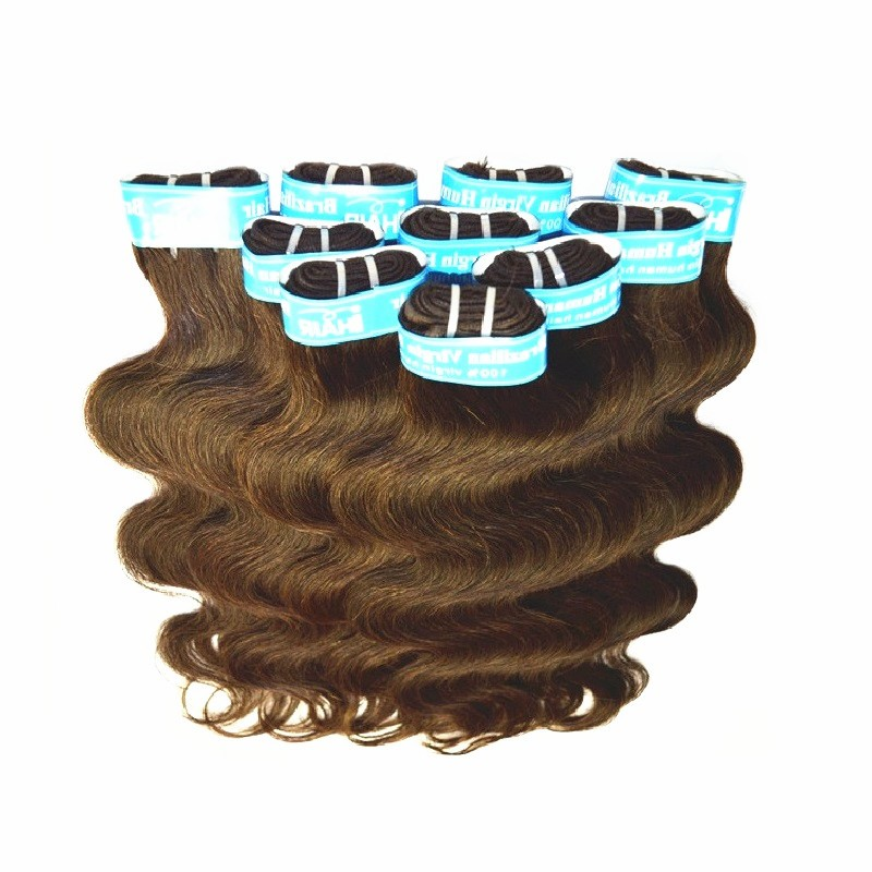 wholesale cheap 5a brazilian humano hair extensions weaves medium brown color 2kg 40 balls lot original hair material made dhl