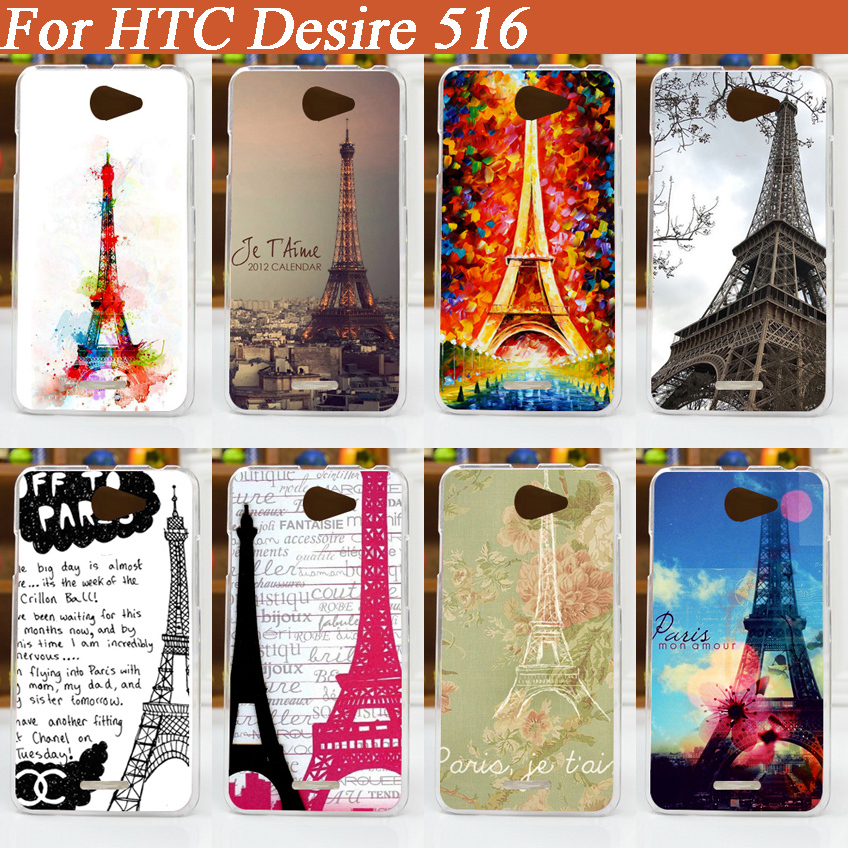 Phone Cases For HTC Desire 516 / 316 Mobile Phone Cover Case painted DIY Eiffel Towers design Case cover for HTC Desire 516 case(China (Mainland))
