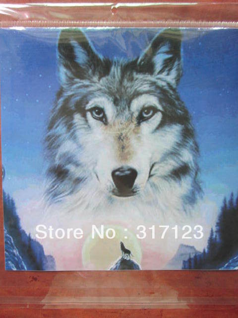Free shipping  (50 pieces / lot ) Wholesale 25*25CM big size  wolf decals for car /wall personlazied stickers<br><br>Aliexpress