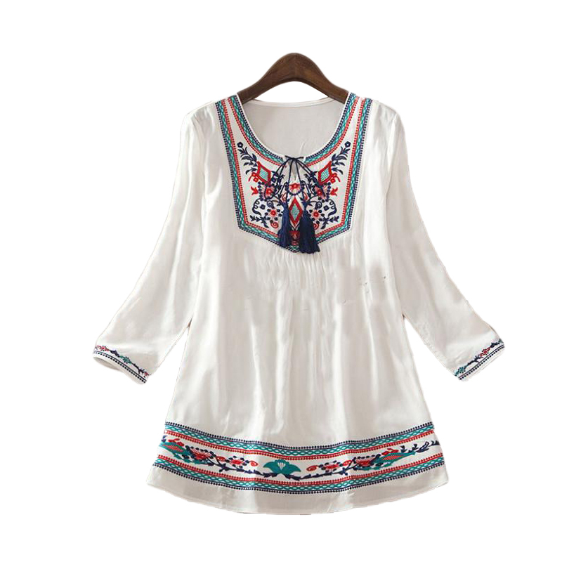 Mexican Embroidered Blouses For Sale 72