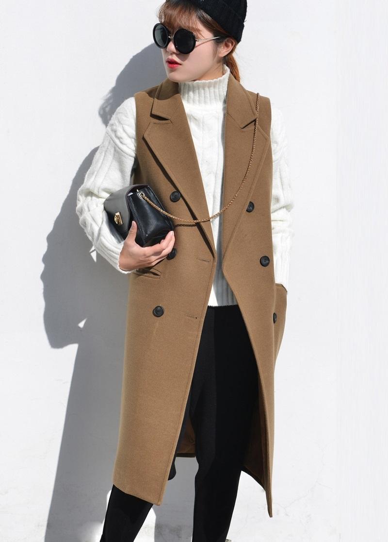 Wool Vest Spring Autumn 2016 Casual Elegant Camel Beige Grey Black Woolen Peacoats Jackets Womens Wool Tank Vest Free ShippingОдежда и ак�е��уары<br><br><br>Aliexpress