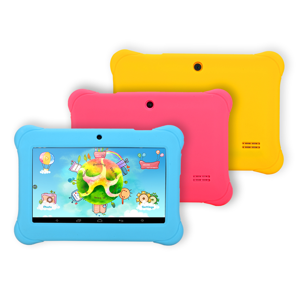 iRULU Y17 Babypad A33 Quad Core 1.3 GHZ Android 4.4 Tablet PC 8GB 1024 * 600 PAD 2800mAh wifi blue yellow pink(China (Mainland))