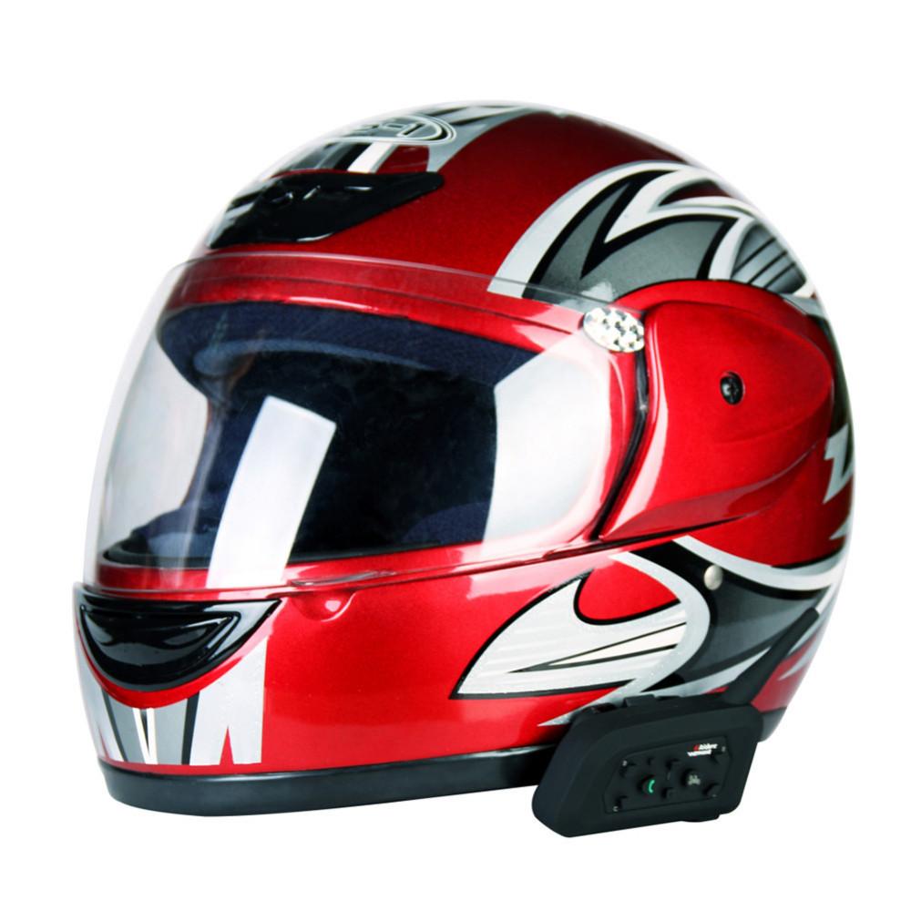 Купить 1200 М Мотоциклетный Шлем Интерком Bluetooth Музыкальный Приемник 6 Всадники BT Беспроводной Домофон intercomunicador Гарнитуры MP3 ЕС plug