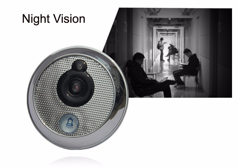 Видео глаз кольцо дверной звонок камера беспроводной глазок 2 8 дюймов TFT lcd 3X зум 1.6