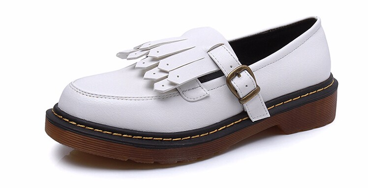 Brogue Oxford Shoes Woman Casual Leather Women Flats Ladies British Style Moccasins Casual Work Loafers Shoes Chaussure Femmer