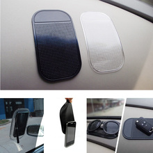 1PC Car Dashboard Sticky Pad Silica Gel Magic Sticky Pad Holder Anti Slip Mat For Car Mobile Phone Car Accessories 2 color(China (Mainland))