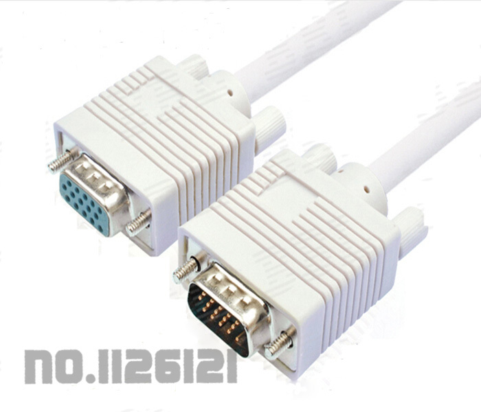 VGA extension cable male to female computer monitors projectors data cable 1.5M(China (Mainland))