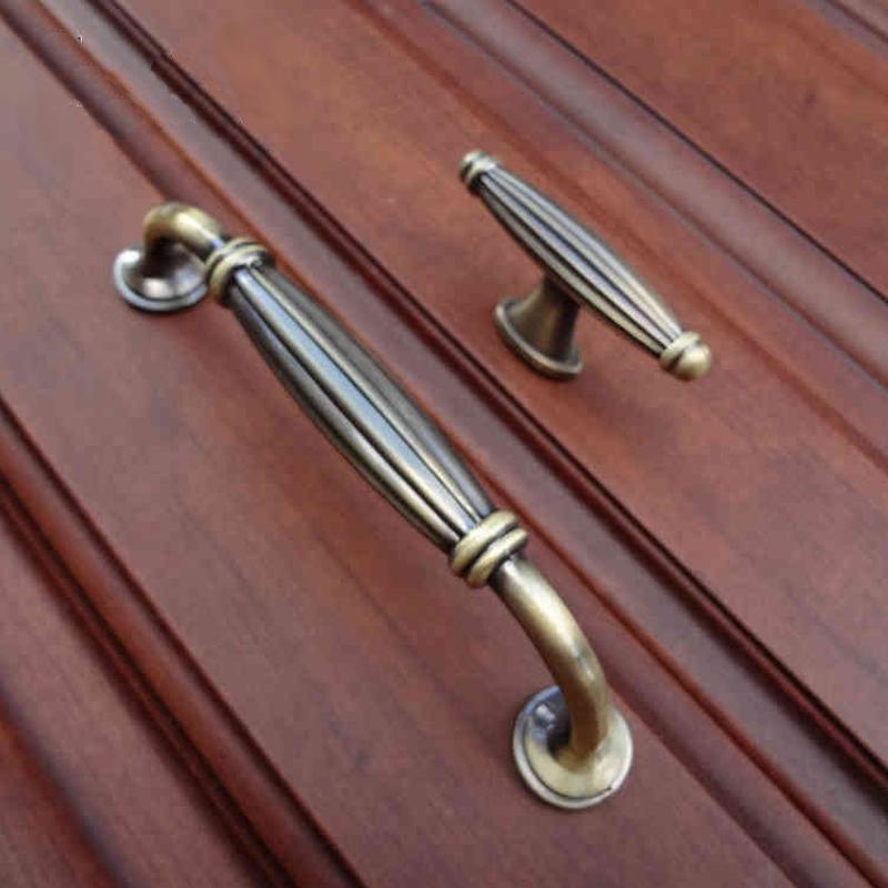 Гаджет  Antique Bronze Kitchen Cabinet handles Cupboard Drawer Dresser Wardrobe Furniture Handle pull knob None Мебель