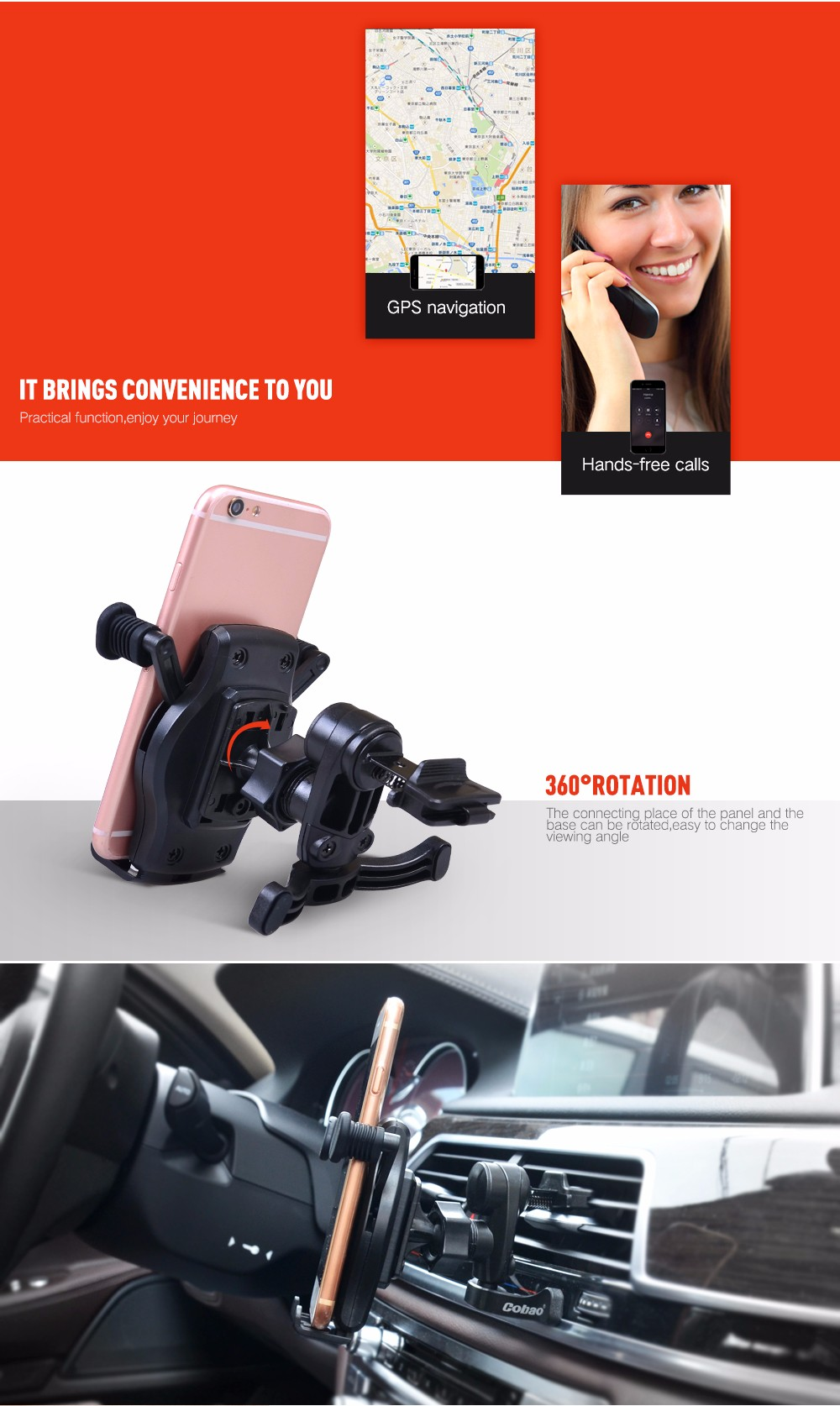Universal Smartphone Stand Car Accessories Air Vent Mount Holder For xiaomi Iphone 6/Plus 5s 4 GPS Stand For Your Mobile Phones