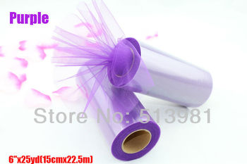 "5pcs Purple Violet Tulle Roll Spool 6""x25YD Tutu Wedding Party Gift Bow Craft Banquet Decoration Favor"
