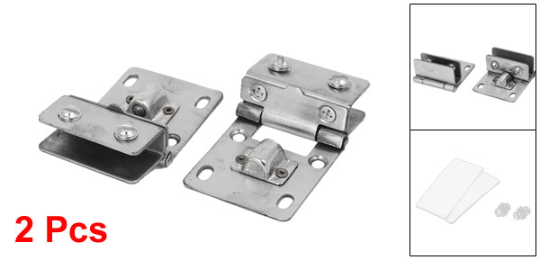 11mm Thickness Glass Wall Mounted Fitting Clip Door Hinge Catch Silver Tone 2pcs(China (Mainland))
