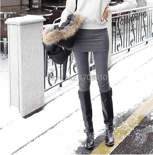 2015 New Autumn Winter Women's Pants Thick Leggings Stretched Spring Faux Two Piece Fitness Bloomers - Kate's Fashion store