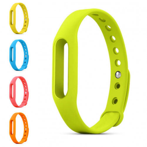 6 Colors 1:1 Xiaomi Mi Band Wrist Band Wearable Wrist Strap Accessories Silicone For Miband 1pcs/lot Free Shipping(China (Mainland))