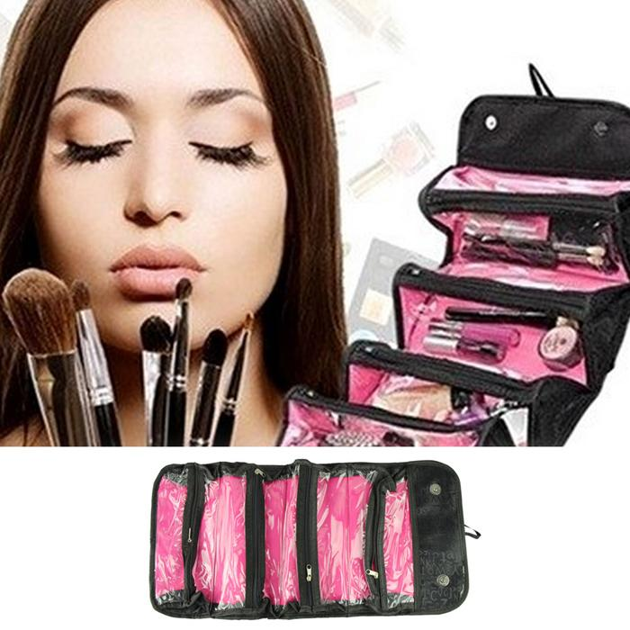 JEWELRY BAG / Travel Cosmetic Case/ make up professional As seen on TV Simple and Fashion wemen bag best deal 1pcs(China (Mainland))