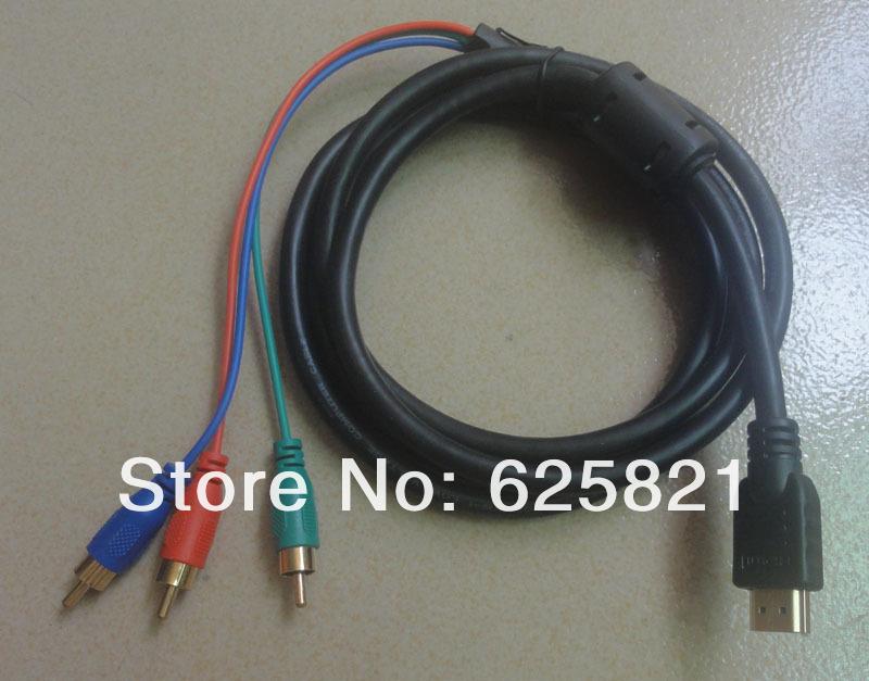 5pcs Free shipping 3 RCA to HDMI Cable(China (Mainland))