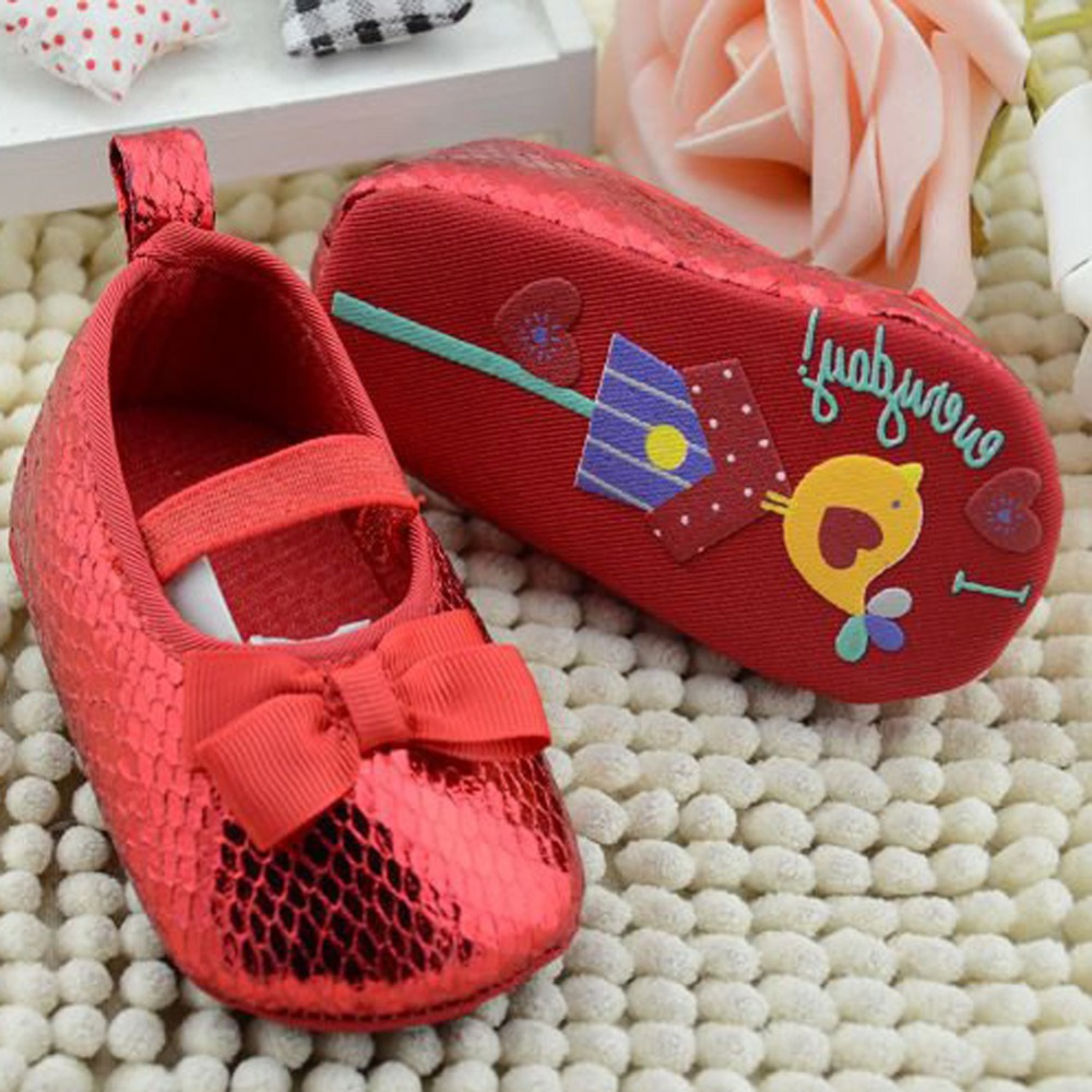 2 Colors Bling Infant Girls Shoes Soft Bottom Toddler Shoes Baby Shoes Prewalker First Walkers Soft Shoes