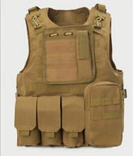 Ventas profesionales USMC Airsoft táctico militar Molle asalto de combate Plate Carrier chaleco táctico 10 colores ropa CS(China (Mainland))