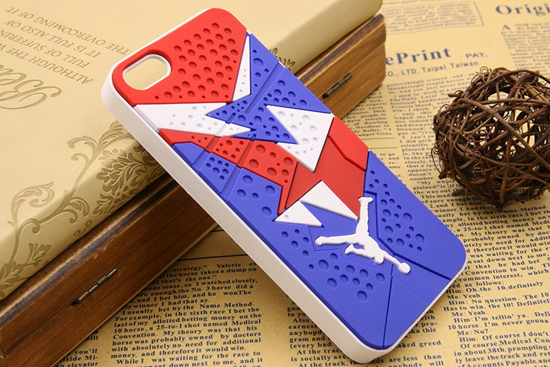 Phone Cases For Iphone 5S SE 3D Jordan Rubber & PVC Sneaker Soles Sport Jupman Phone Case Cover For Apple iPhone 5S SE
