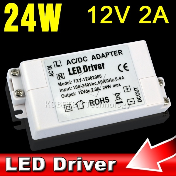 1pcs Durable Low Power Consumption AC/DC Adapter 24W 2A Led Driver 12V Lighting Transformers Power Supply for Light Lamp Bulb(China (Mainland))