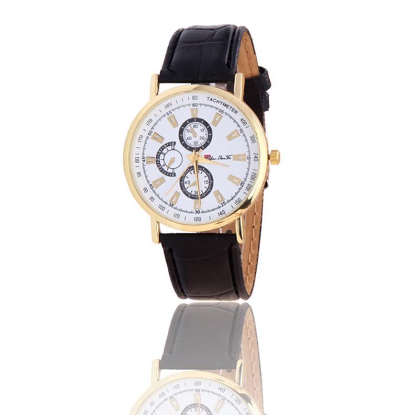 Hot Marketing 2016 Rome Article Leather Band Analog Quartz Vogue Wrist Watches F12(China (Mainland))