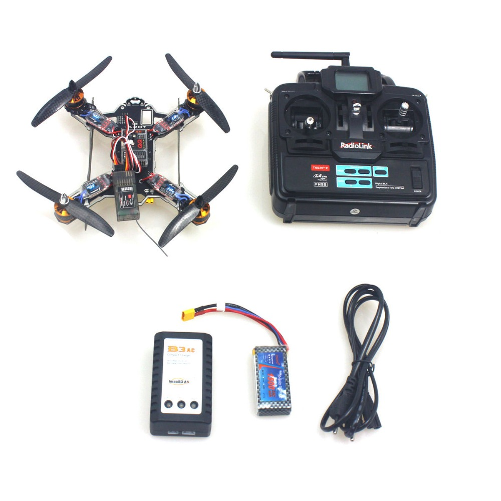 F11940-A Full Kit Tarot TL200A MINI 200 4-Axis Aircraft With Motor ESC QQ Controller Props 6CH TX RX Battery Charger RTF Drone <br><br>Aliexpress
