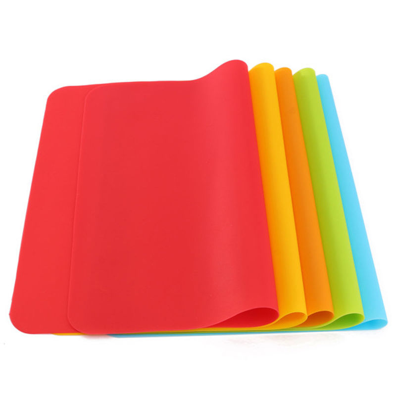 1 Pc 30x40cm Solid Color Silicone Pastry Bakeware Baking