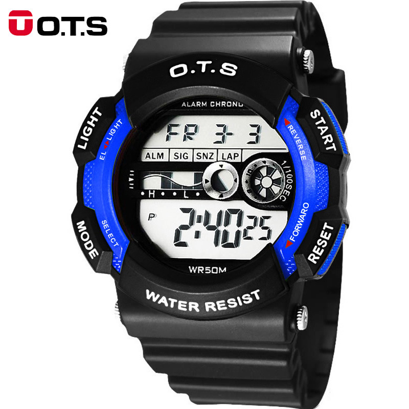 OTS children watch the boy student girl waterproof electronic watch outdoor sports watch function of pupils(China (Mainland))