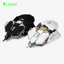Original Brand LUOM G10 Adjustable Gaming Mouse 4000DPI Optical 9 Mechanical Programmable USB Wired Mice Competitive LOL(China (Mainland))