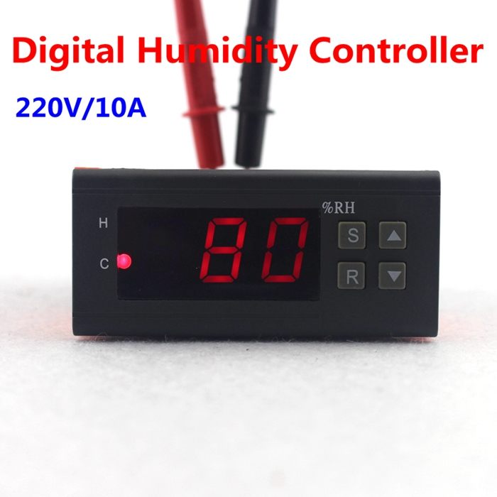 Mini Digital Humidity Controller 1% ~ 99% RH 220V 10A Hygrometer with humidity sensor PU delay protection function<br><br>Aliexpress